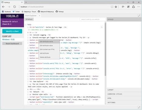 Vorlon.js: Focus on DOM Explorer - CodeProject | javascript node.js | Scoop.it