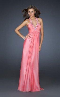 Watermelon Multi-colored V Neck Halter Homecoming Dress [watermelon v neck prom dress] - $150.00 : Cheap Prom Dresses 2014,Prom Dresses For Cheap | Prom dress | Scoop.it