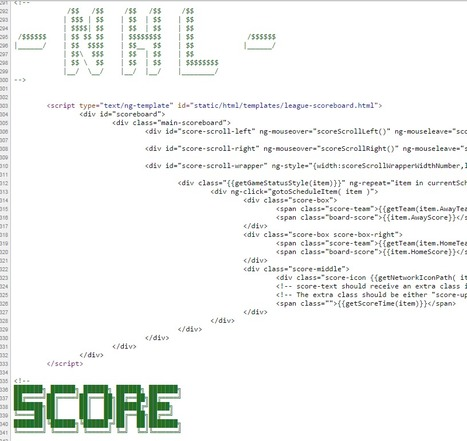 NBC Sports HTML Source | ASCII Art | Scoop.it