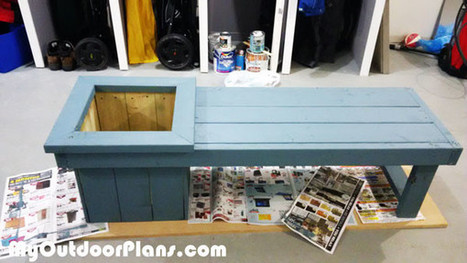 DIY Small Planter Bench | MyOutdoorPlans | Free Woodworking Plans and Projects, DIY Shed, Wooden Playhouse, Pergola, Bbq | Garden Plans | Scoop.it