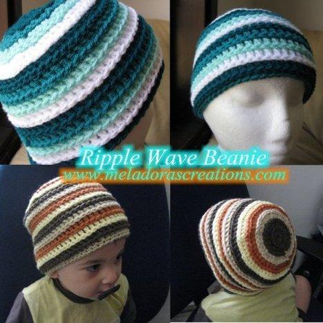 Ripple Wave Beanie - Free Crochet Pattern | FREE Crochet Patterns | Scoop.it