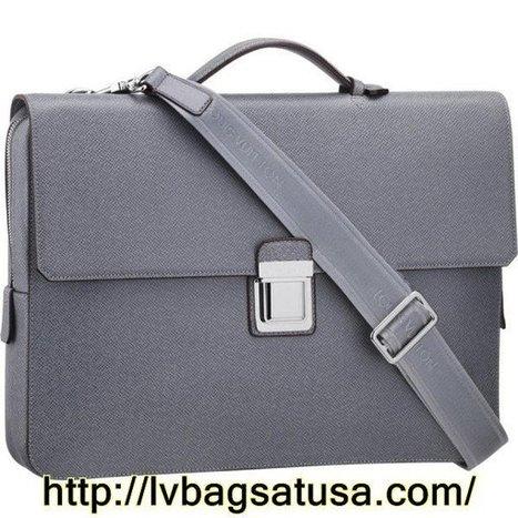Louis Vuitton Vassili PM Taiga Leather M32641   Original Louis Vuitton Outlet Online   Scoop.it