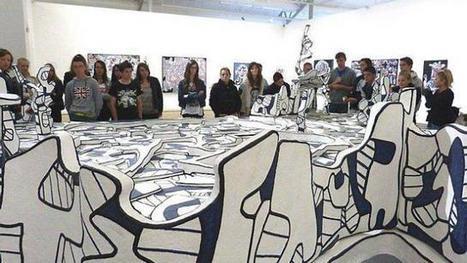 Les élèves de la MFR découvrent Jean Dubuffet | MFR PLOUNEVEZ-LOCHRIST | Scoop.it
