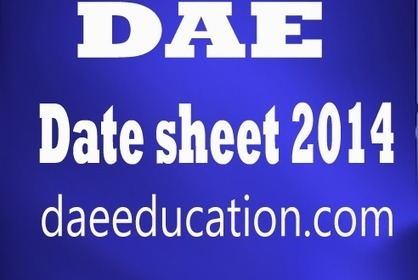 PBTE DAE Date Sheet 2014 1st 2nd and 3rd year | Urdu novels | Scoop.it