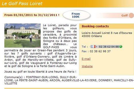 Golf pass Loiret, à 1h de Paris ! | Les dernières news golf et info golf | Scoop.it