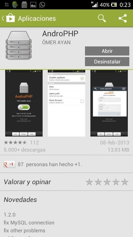 Servidor Web con PHP y MySQL en Android   Material para la exposición de INF-272   Scoop.it