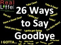 26 Dynamic Ways to Say Goodbye | Children | Scoop.it