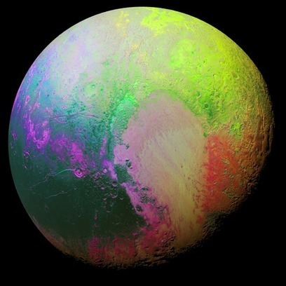 Plutone psichedelico (a colori falsati) | Planets, Stars, rockets and Space | Scoop.it