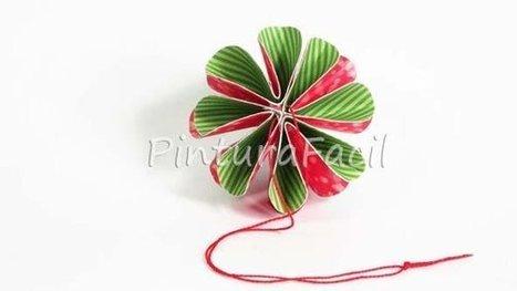 La Navidad está a la vuelta de la esquina, y tenemos que empezar ya a hacer nuestros adornos navideños... Es por eso que te comparto hoy estas esferas de papel súper bonitas y muy fáciles y rápidas... | Con tus propias manos - Lola | Scoop.it