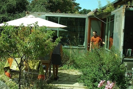 Architect Couple Build a Backyard Office From a Shipping Container | Permaculture University | Scoop.it