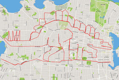 This Guy on a Bike Makes Enormous Doodles with GPS Trails | Fantastic Maps | Scoop.it