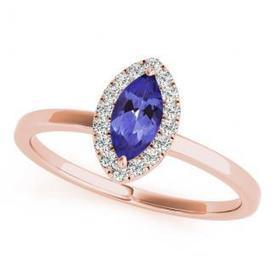 .32ct Marquise Tanzanite Ring With .144ctw Diamonds in 14k Rose gold | Tanzanite Rings | Scoop.it