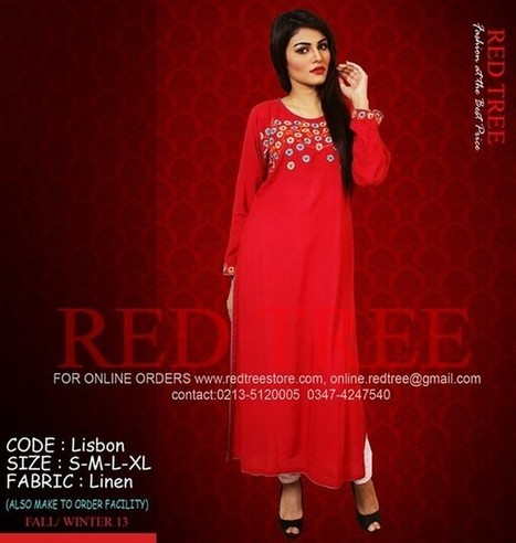 Winter Dresses 2013 for Women and Girls by Red Tree   smartinstep.com   Scoop.it