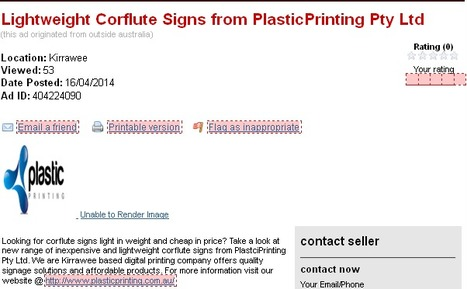Lightweight Corflute Signs from PlasticPrinting Pty Ltd on Cracker | Plastic Printing Pty Ltd | Scoop.it