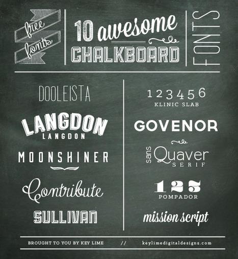 10 Free Chalkboard Fonts - Key Lime Digital Designs | Typography | Scoop.it