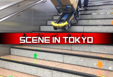 SCENE IN TOKYO: Robotic Helper Climbs Stairs in Shinjuku Station | AI, NBI, Robotics & Cybernetics & Android Stuff | Scoop.it
