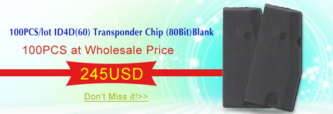 100PCS/lot ID4D60 Transponder Chip 80Bit Blank | OBD2 Scanner Global Supplier-EOBD2.net | Scoop.it