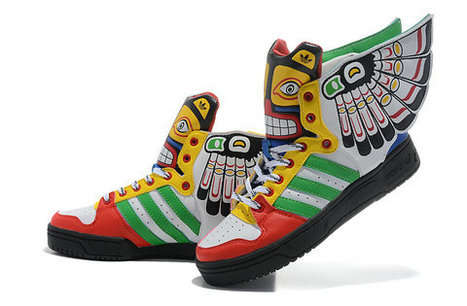 Colorful Adidas Indians Totem Eagles Shoes Jeremy Scott Wings Hi [adidas-0006] - $88.13 : Adidas Glow In the Dark Shoes, Nike Dunks Glow In the Dark Sneakers | the ingredients of style | Scoop.it