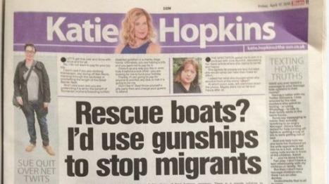 Conservative columnist Katie Hopkins reported to police over asylum seeker views | anti-racism framework | Scoop.it