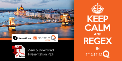 Keep Calm & Regex with memoQ – intro to regex usage in memoQ (by Angela Madrid, K International) | Translator Tools | Scoop.it