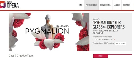 A special Rameau's Pygmalion for Glass Google !! | digital technologies in classical music & opera | Scoop.it