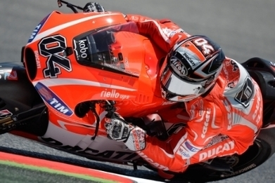 Dovizioso seventh in Catalonia, crash for Hayden | Ducati news | Scoop.it