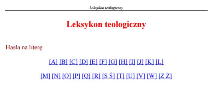 (PL) (PDF) - Leksykon teologiczny | Wydawnictwo WAM, Kraków | Glossarissimo! | Scoop.it