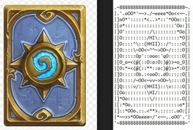 ASCII Art: Hearthstone Classic Cardback • /r/hearthstone | ASCII Art | Scoop.it
