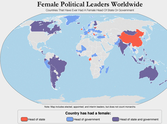 CHART: Female Heads Of State And Government Worldwide | wicked problems defined and solved---How? | Scoop.it