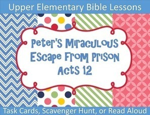 Peter's Miraculous Escape from Prison Bible Task Cards | Children's Ministry Ideas | Scoop.it