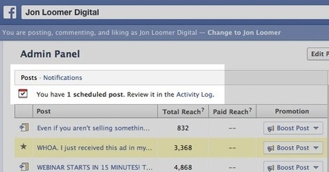Facebook improves post scheduling, notifies page owners of scheduled posts - Inside Facebook | Social Media | Scoop.it