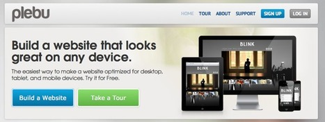 @Plebu - The insanely easy website builder | Emerging Digital Workflows [ @zbutcher ] | Scoop.it