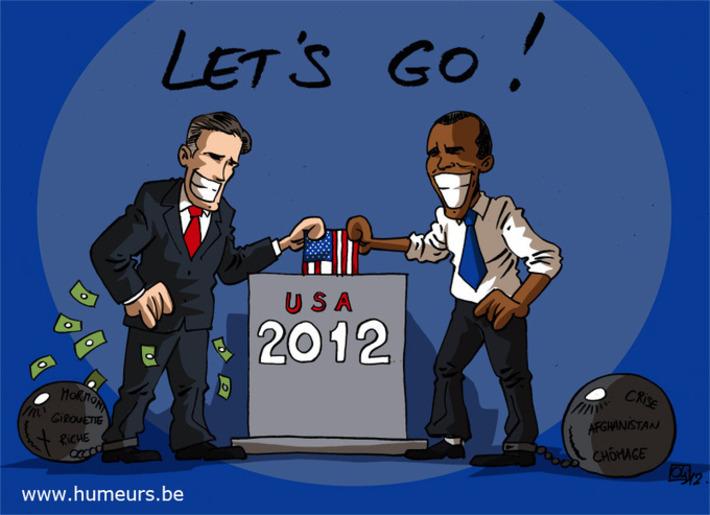 USA : Obama - Romney, c'est parti ! | Baie d'humour | Scoop.it