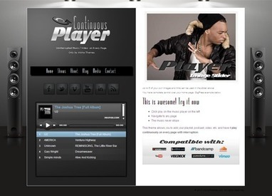 Continuous Player WordPress Audio Player Theme | nerdan | Scoop.it