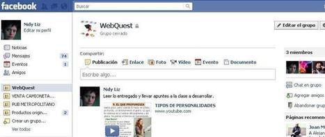 WebQuest social en grupos de Facebook:  Un rescate pedagógico de la red social. | Maestros de corazón | Scoop.it
