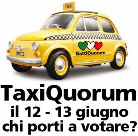 TaxiQuorum. Un passaggio gratuito per andare a votare al referendum del 12 e 13 giugno | Marrai a Fura | #chinonvota | Scoop.it