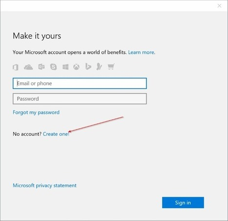 How To Use Gmail Or Yahoo! Mail To Create Microsoft Account On Windows 10 | Time to Learn | Scoop.it