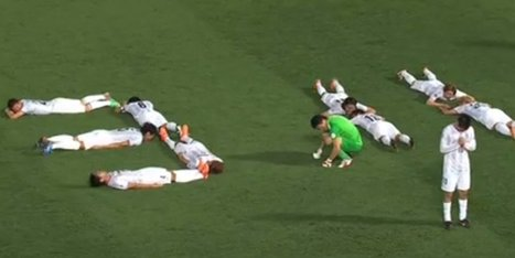 L'hommage de joueurs de foot japonais aux victimes du Tsunami (+vidéo) | Japon : séisme, tsunami & conséquences | Scoop.it