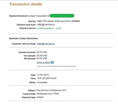 Exclusive payment proof from GoSignups - News - Bubblews | Articles - Byme | Scoop.it