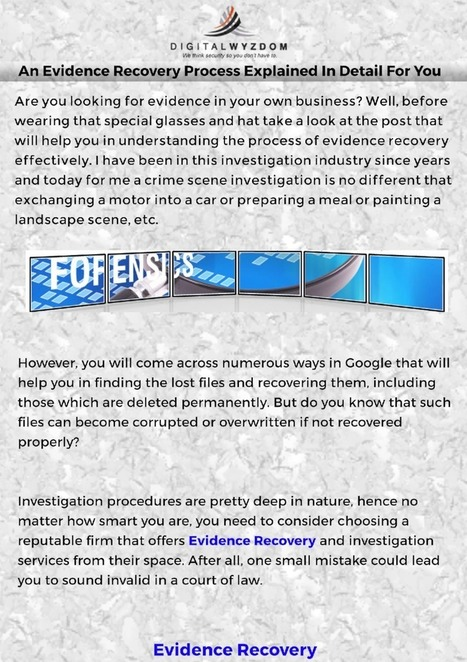 An Evidence Recovery process explained in detail for you - PdfSR.com   Computer Forensics   Scoop.it