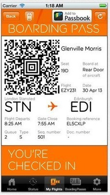 easyJet expands Passbook support to 75 airports | TUAW - The ... | Infrastructure & Transport  in Kent uk | Scoop.it