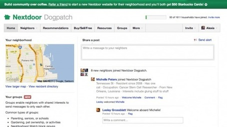 "$18.6M fuding for Nextdoor, a ""Facebook For Local Communities"" 