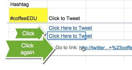 Google Sheets: Click Here to Tweet | Educational Discourse | Scoop.it
