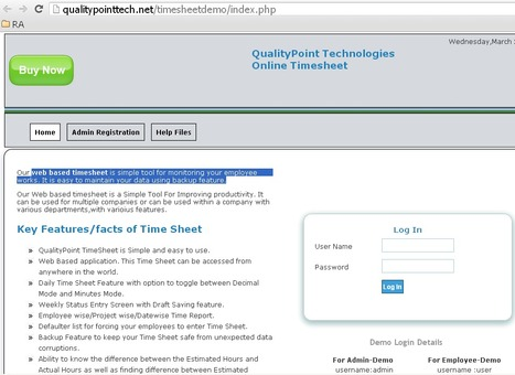 Online Timesheet • QualityPoint Technologies | TimeSheet | Scoop.it