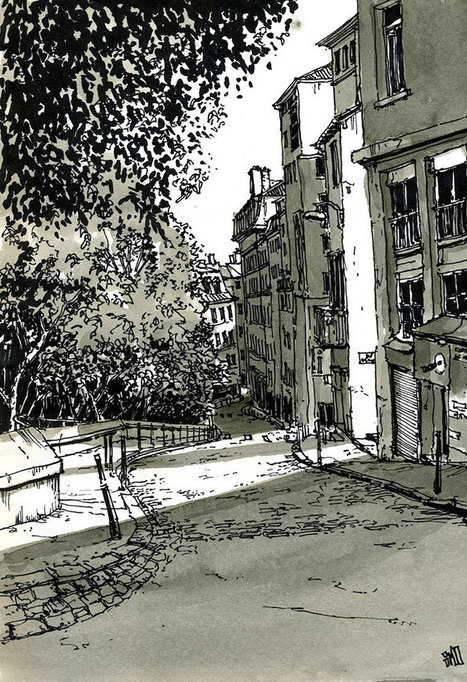 Design Stack: Architectural Street Drawings and Sketches | Graphisme - Illustration | Scoop.it