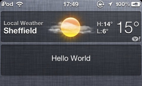 Developing widgets for iOS 5 Notification Center technically possible | iPhone and iPad development | Scoop.it