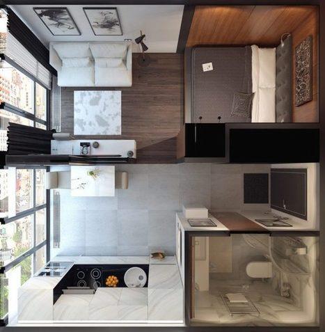 Ötletes megoldások egy átgondolt térszervezéssel tervezett, kis 29m2-es, új lakásban - Lakberendezés trendMagazin | Lakberendezési ötletek | Scoop.it