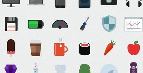 Flatilicious, un pack compuesto por 48 bellos iconos planos gratuitos | emolientes | Scoop.it