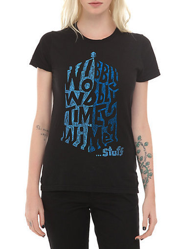 Doctor Who Her Universe Wibbly Wobbly TARDIS Girls T-Shirt | Hot Topic | fashion | Scoop.it