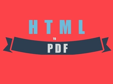 15+ Best Tools To Convert Webpage to PDF | technology | Scoop.it